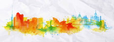 Sydney Watercolor Splash Mural Wallpaper