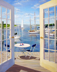 Table On The Harbor Wall Mural