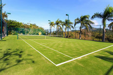 Outdoor Tennis Court Mural Wallpaper