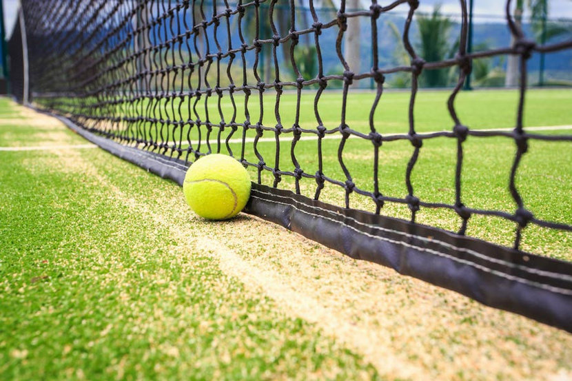 Ball On The Tennis Court