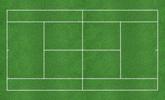 Green Tennis Court Wallpaper Mural