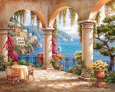 Terrace Arch II Wallpaper Mural
