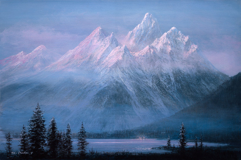 Teton Twilight Wallpaper Mural