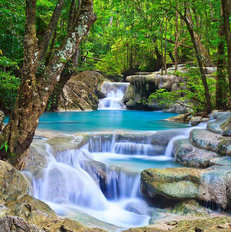 Thailand Waterfall Wall Mural