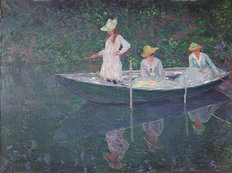 The Boat at Giverny Wallpaper Mural