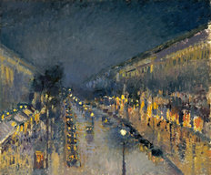 The Boulevard Montmartre at Night Mural Wallpaper
