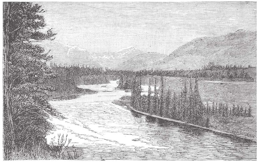 The-Bow-River-near-Padmore,-Vintage-Engraved-Illustration-Wall-Mural.jpg