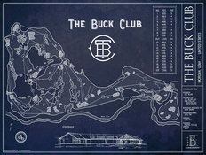 The Buck Club Blueprint Wall Mural