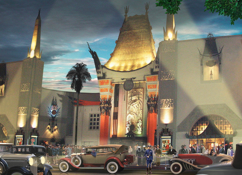 The Chinese Grauman Theatre Wall Mural