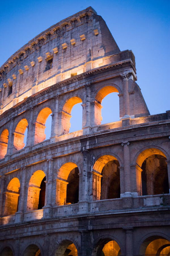 The Colosseum at Twilight Mural Wallpaper