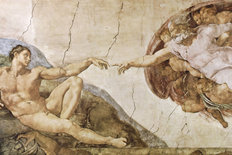The Creation Of Adam Wallpaper Mural