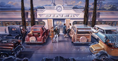 The Diner 2 Mural Wallpaper
