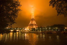 The Eiffel Tower in Fog Mural Wallpaper