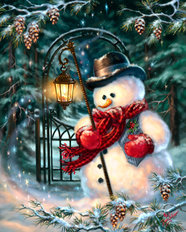 The Enchanted Christmas Snowman Wall Mural
