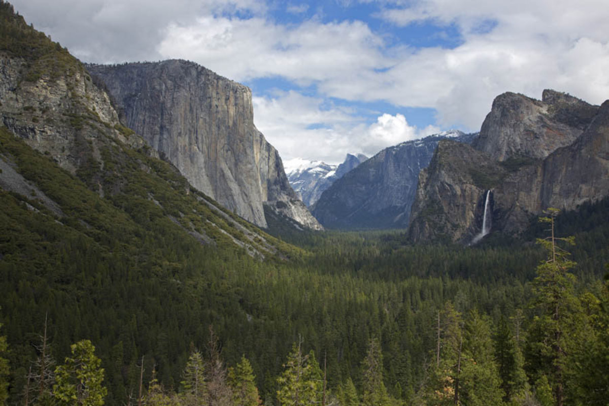 The Famous Tunnel View at Yosemite National Park  Mural Wallpaper
