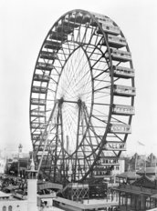The ferris wheel at the World's Columbian Exposition Mural Wallpaper