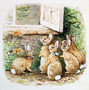The Flopsy Bunnies At The Window Wallpaper Mural