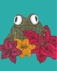 The Frog Wall Mural