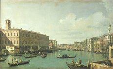 The Grand Canal From the Rialto Bridge Wall Mural