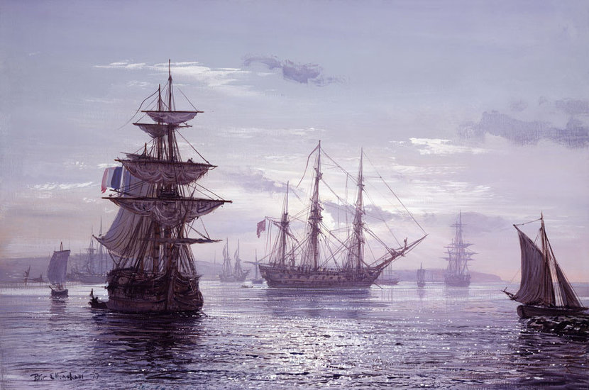 The Great Age Of Sail Mural Wallpaper