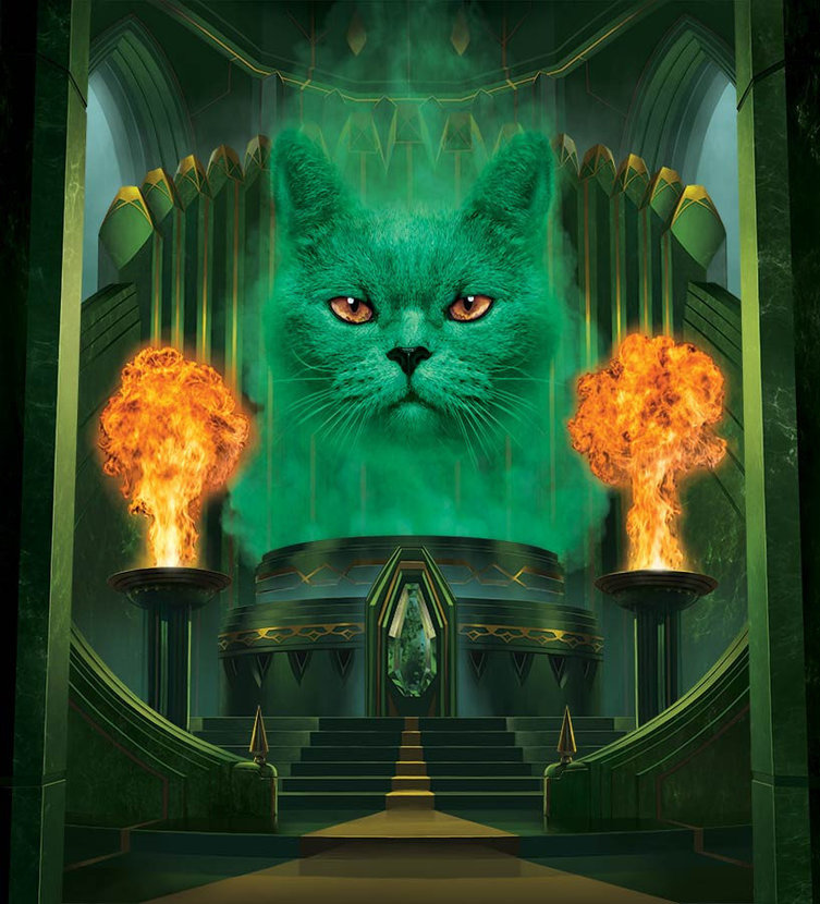 The Great and Powerful Cat Wall Mural