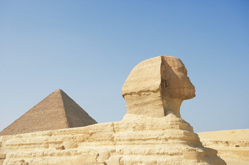 The Great Pyramid & Sphinx Of Egypt Wallpaper Mural