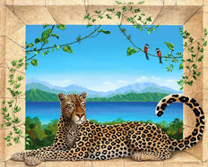 The Leopard Wall Mural
