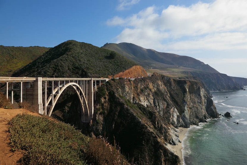 The Magnificent Bridge On A Rocky Coast Wall Mural
