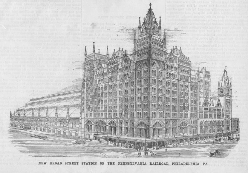 The Pennsylvania Railroad Station in Philadelphia at New Broad Street Wall Mural