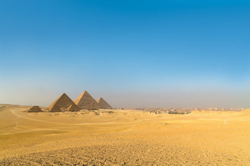 The Pyramids Of Giza On A Bright Sunny Day Wall Mural