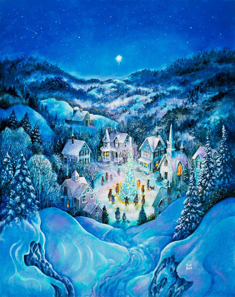 The Road To Christmas Mural Wallpaper