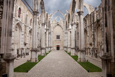 The Ruins of Carmo Convent, Portugal Wall Mural