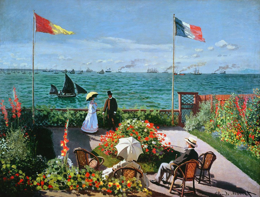 The Terrace At Sainte Adresse Wall Mural