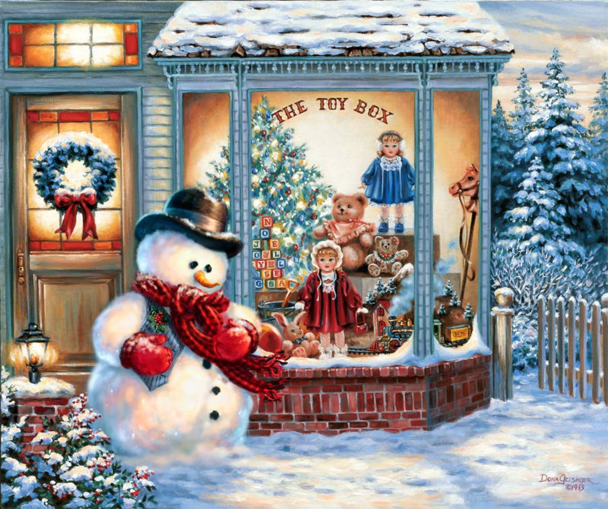 The Toy Box Snowman Wallpaper Mural