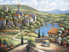 The Village A Mural Wallpaper
