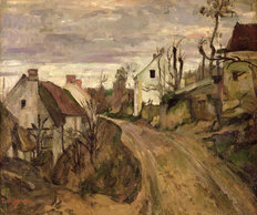 The Village Road, Auvers Mural Wallpaper