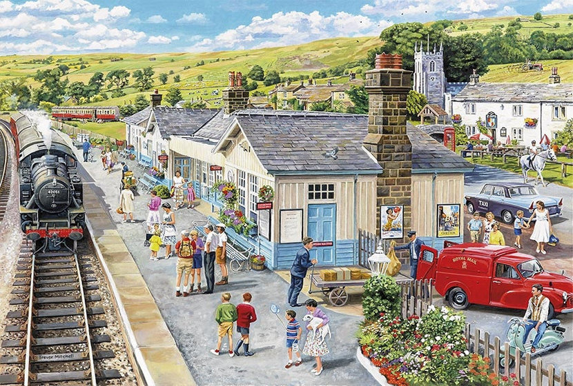 The Village Station Wall Mural