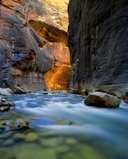 The Virgin River Narrows, Utah Wallpaper Mural