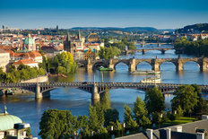 The Vltava River, Prague - Day Mural Wallpaper