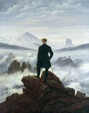 The Wanderer Above The Sea of Fog Wallpaper Mural