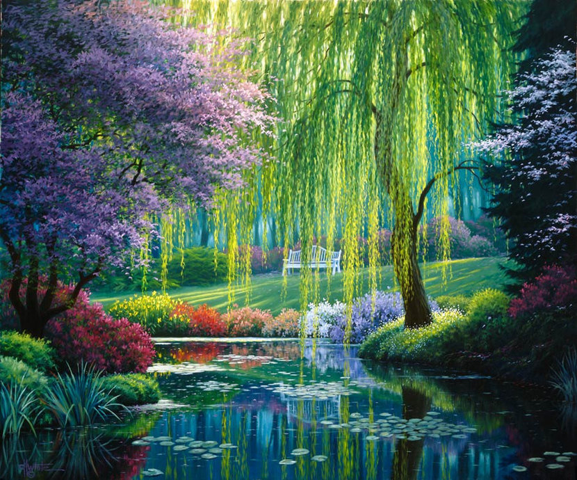 The Willow Pond Wall Mural