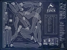 Three Jack National Blueprint Wall Mural