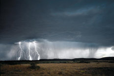Thunderstorm in the High Desert of Oregon  Wall Mural