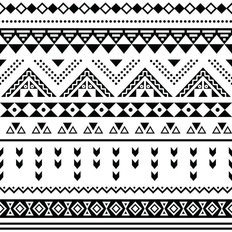 Tribal Triangle Pattern Wallpaper