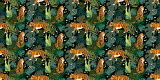 Twilight Tiger Pattern Wallpaper