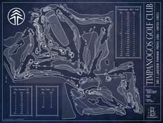 Timpanogos Golf Club Blueprint Wall Mural