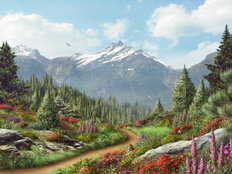 To The Mountain Wall Mural