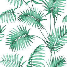 Tropical Palm Leaves Pattern Wallpaper