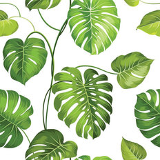 Palm Leaf Print Wallpaper