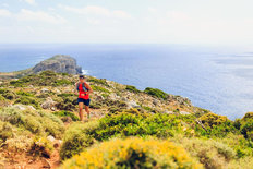 Trail Running In Greece Mural Wallpaper